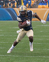 Pitt running back Maurice Ffrench. The Pitt Panthers defeated the Youngstown State Penguins 28-21 in overtime at Heinz Field, Pittsburgh, Pennsylvania on September 02, 2017.