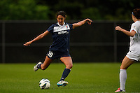 Sky Blue FC defender Lindsi Lisonbee-Cutshall (18). FC Kansas City defeated Sky Blue FC 1-0 during a National Women's Soccer League (NWSL) match at Yurcak Field in Piscataway, NJ, on July 28, 2013.
