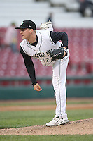 April 29, 2009: Kane County Cougars pitcher Michael Hart (27) at Elfstrom Stadium in Geneva, IL.  Photo by: Chris Proctor/Four Seam Images