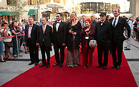 August 23 2012 - Montreal (Qc) CANADA - Montreal World Film Festival 2012 - Opening day red carpet - Serge Losique with the  Jury : Greta Scacchi, Michel Cote, Vera Belmont, Kim Dong Ho, Andrei Plakhov,Wang Xueqi
