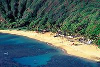 Beach at Hanauma Bay on the Island of Ohau