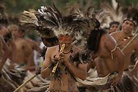 X JOGOS DOS POVOS INDÍGENAS<br /> Terena de Mato Grosso do Sul. <br /> Os Jogos dos Povos Indígenas (JPI) chegam a sua décima edição. Neste ano 2009, que acontecem entre os dias 31 de outubro e 07 de novembro. A data escolhida obedece ao calendário lunar indígena. com participação  cerca de 1300 indígenas, de aproximadamente 35 etnias, vindas de todas as regiões brasileiras. <br /> Paragominas , Pará, Brasil.<br /> Foto Paulo Santos<br /> 03/11/2009