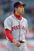 Junichi Tazawa #16 of the Portland Sea Dogs at Waterfront Park May 12, 2009 in Trenton, New Jersey. (Photo by Brian Westerholt / Four Seam Images)