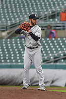 Colorado Springs Sky Sox pitcher Damien Magnifico (33) on the mound during a Pacific Coast League game against the Iowa Cubs on May 1st, 2016 at Principal Park in Des Moines, Iowa.  Colorado Springs defeated Iowa 4-3. (Brad Krause/Four Seam Images)