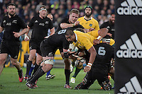 Wallabies' Will Skelton in action during the All Blacks v Wallabies. The Rugby Championship & Bledisloe Cup at Westpac Stadium, Wellington, New Zealand on Saturday 27 August 2016.<br /> Photo by Masanori Udagawa. <br /> www.photowellington.photoshelter.com.