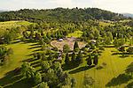 Aerial of Willamette National Cemetary, Portland, Oregon