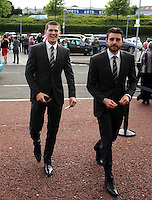 Pictured: Alexander Gogic (L)  arrives Wednesday 20 May 2015<br />