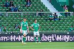 19.09.2020, wohninvest Weserstadion, Bremen, GER,  SV Werder Bremen vs Hertha BSC Berlin, <br /> <br /> <br />  im Bild<br /> <br /> enttäuscht / enttaeuscht / traurig / Niederlage / dissapointed<br /> Maximilian Eggestein (Werder Bremen #35)<br /> Marco Friedl (Werder Bremen #32)<br /> <br /> Foto © nordphoto / Kokenge<br /> <br /> DFL regulations prohibit any use of photographs as image sequences and/or quasi-video.