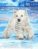 Sinead, CHRISTMAS ANIMALS, WEIHNACHTEN TIERE, NAVIDAD ANIMALES, paintings+++++,LLSJ2151A,#xa# ,icebear,icebears ,polarbear