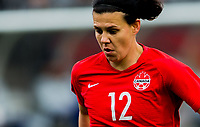 CARSON, CA - FEBRUARY 9: Christine Sinclair #12 of Canada during a game between Canada and USWNT at Dignity Health Sports Park on February 9, 2020 in Carson, California.