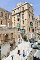 beim Victoria Gate in Valletta, Malta, Europa, Unesco-Weltkulturerbe