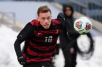 Chester, PA - Sunday December 10, 2017: Corey Baird. Stanford University defeated Indiana University 1-0 in double overtime during the NCAA 2017 Men's College Cup championship match at Talen Energy Stadium.