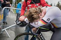 Jasha Sütterlin (DEU/Movistar) post-finish<br /> <br /> Men Elite Individual Time Trial<br /> <br /> UCI 2017 Road World Championships - Bergen/Norway