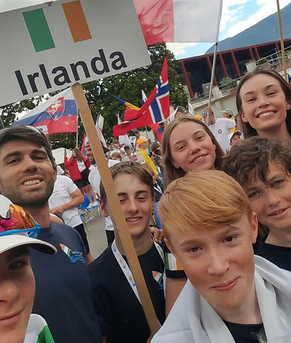 Team Ireland - Lucia Cullen, RStGYC, Rocco Wright, HYC, William Walsh, HYC, Harry Moynan, RCYC and Eolann Hynes are competing in the event with coach, Simone Ricci and team leader, Emily Cullen.