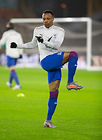 8th January 2021; Molineux Stadium, Wolverhampton, West Midlands, England; English FA Cup Football, Wolverhampton Wanderers versus Crystal Palace; Nathaniel Clyne of Crystal Palace stretching during the warm up