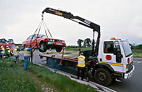 BMW being recovered following RTC. This image may only be used to portray the subject in a positive manner..©shoutpictures.com..john@shoutpictures.com