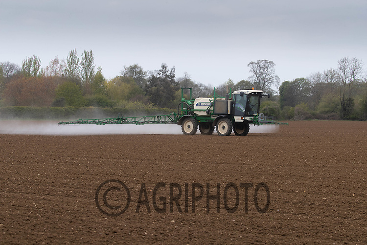 27-4-2021 Spraying newly emerged sugar beet in Lincolnshire <br /> ©Tim Scrivener Photographer 07850 303986<br />      ....Covering Agriculture In The UK....