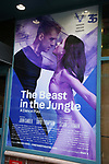 Theatre Marquee for the Opening Night Performance of 'The Beast In The Jungle' at The Vineyard Theatre on May 23, 2018 in New York City.