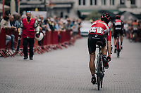 #13 Sean de Bie (BEL/Lotto-Soudal) on his way to the start<br /> <br /> 2017 National Championships Belgium - Elite Men - Road Race (NC)<br /> 1 Day Race: Antwerpen > Antwerpen (233km)