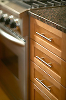 Kitchen drawers with modern handles