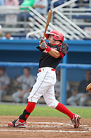 Batavia Muckdogs outfielder Matt Valaika (8) during a game vs. the Mahoning Valley Scrappers at Dwyer Stadium in Batavia, New York August 2, 2010.  Batavia defeated Mahoning Valley 8-1.  Photo By Mike Janes/Four Seam Images