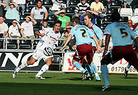 Pictured: Federico Bessone of Swansea City in action <br /> Coca Cola Championship, Swansea City FC v Burnley at the Liberty Stadium, Swansea. Saturday 20 September 2008.