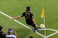 Los Angeles, CA -  Saturday September 15, 2018: Los Angeles FC and New England Revolution played to a 1-1 draw during a Major League Soccer (MLS) game at Banc of California Stadium.