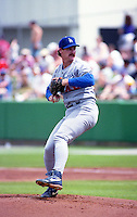 Los Angeles Dodgers pitcher Kevin Gross during Spring Training 1993 at Baseball City Stadium in Davenport, Florida.  (MJA/Four Seam Images)