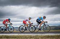 Wout van Aert (BEL/Jumbo - Visma) chasing down Julian Alaphilippe in company of Michal Kwiatkowski (POL/Ineos Grenadiers) & Jakob Fuglsang (DEN/Astana)<br /> <br /> Men's Elite Road Race from Imola to Imola (258km)<br /> <br /> 87th UCI Road World Championships 2020 - ITT (WC)<br /> <br /> ©kramon