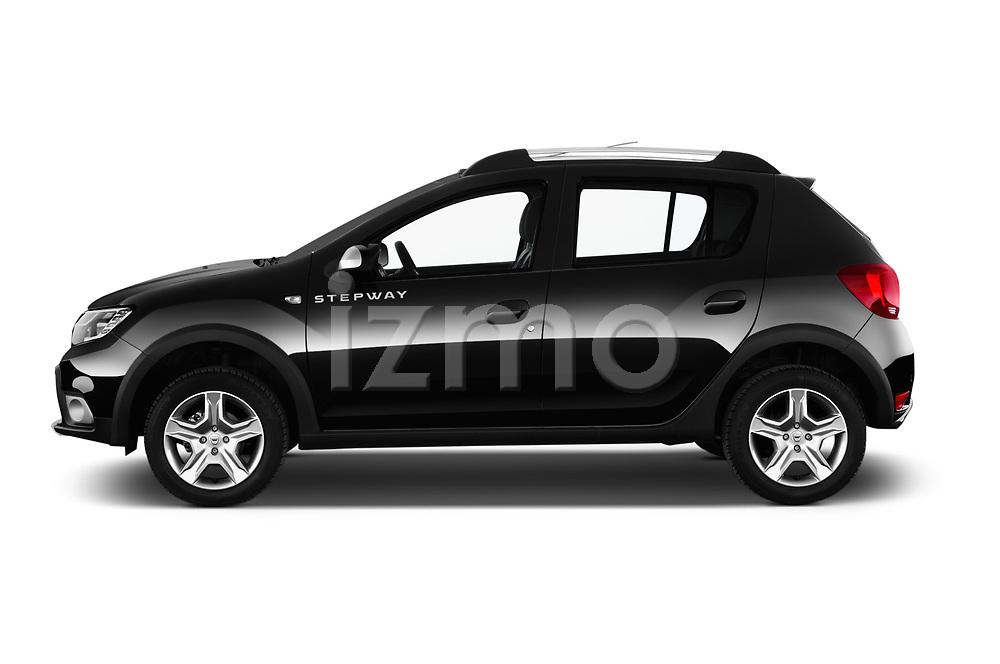Car Driver side profile view of a 2017 Dacia Sandero Stepway 5 Door Hatchback Side View