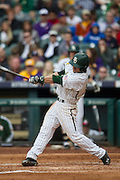 Baylor Bears outfielder Adam Toth (15) swings the bat during the NCAA baseball game against the LSU Tigers on March 7, 2015 in the Houston College Classic at Minute Maid Park in Houston, Texas. LSU defeated Baylor 2-0. (Andrew Woolley/Four Seam Images)