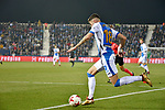 Leganes Jose Naranjo vs Real Madrid during Copa del Rey  match. A quarter of final go. 20180118.