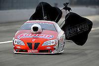 Nov. 12, 2011; Pomona, CA, USA; NHRA pro stock driver Jason Line during qualifying at the Auto Club Finals at Auto Club Raceway at Pomona. Mandatory Credit: Mark J. Rebilas-.