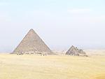 Pyramids at the Giza pyramid complex near Cairo, Egypt.
