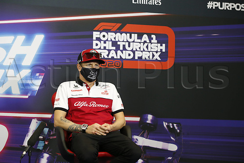 12th November 2020; Istanbul Park, Istanbul, Turkey;   FIA Formula One World Championship 2020, Grand Prix of Turkey, 7 Kimi Raikkonen FIN, Alfa Romeo Racing ORLEN pre race press conference