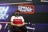 12th November 2020; Istanbul Park, Istanbul, Turkey;   FIA Formula One World Championship 2020, Grand Prix of Turkey, 7 Kimi Raikkonen FIN, Alfa Romeo Racing ORLEN pre race press conference