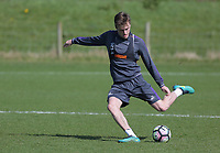 Pictured: Ryan Blair takes a shot Friday 24 March 2017<br /> Re: Swansea City U23 training ahead of their International Cup game against Porto, Fairwood training ground, UK