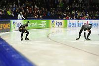 SCHAATSEN: HEERENVEEN: 25-10-2013, IJsstadion Thialf, NK afstanden, 500m, Jan Smeekens, Ronald Mulder, ©foto Martin de Jong