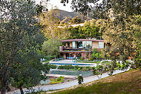 Coyote House, SITES® residential home with sustainable garden Santa Barbara California, Susan Van Atta landscape architect, Ken Radtkey architect, set in landscape of California Oaks. Certified LEED Platinum by the U.S. Green Building Council's Leadership in Energy and Environmental Design