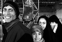 Teheran, Iran, March 18, 2007.Pilgrims come and pray on Ayatollah Khomeini 's grave.