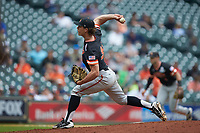 Sam Houston State Bearkats relief pitcher Colin Cameron (34) in action during game four of the 2018 Shriners Hospitals for Children College Classic at Minute Maid Park on March 3, 2018 in Houston, Texas. The Wildcats defeated the Bearkats 7-2.  (Brian Westerholt/Four Seam Images)