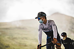 Israel Start-Up Nation at sign on before Stage 16 of the 2021 Tour de France, running 169km from Pas de la Case to Saint-Gaudens, France. 13th July 2021.  <br /> Picture: A.S.O./Pauline Ballet   Cyclefile<br /> <br /> All photos usage must carry mandatory copyright credit (© Cyclefile   A.S.O./Pauline Ballet)