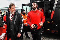 Fleetwood Town's defender Craig Morgan (20) arriving for the Sky Bet League 1 match between Doncaster Rovers and Fleetwood Town at the Keepmoat Stadium, Doncaster, England on 6 October 2018. Photo by Stephen Buckley / PRiME Media Images.