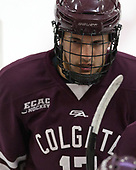 Ben Sharf (Colgate - 17) - The visiting Colgate University Raiders shut out the Harvard University Crimson for a 2-0 win on Saturday, January 27, 2018, at Bright-Landry Hockey Center in Boston, Massachusetts.