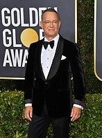 LOS ANGELES, USA. January 06, 2020: Tom Hanks arriving at the 2020 Golden Globe Awards at the Beverly Hilton Hotel.<br /> Picture: Paul Smith/Featureflash