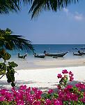 Thailand, island Ko Pha Ngan, Thong Nai Pan Yai bay and beach