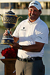 DORAL, FL. - Phil Mickelson with the CA Championship trophy at the 2009 World Golf Championships CA Championship at Doral Golf Resort and Spa in Doral, FL. on March 15, 2009