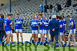 Templenoe players Coiln Crowley, Gavin Crowley, Josh Crowley Holland and Kieran O'Neill rehydrate during the water break at their  SFC clash in Fitzgerald Stadium on Friday evening