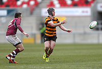 CAI vs RBAI | Tuesday 3rd March 2015<br /> <br /> Ryan McComiskey moves play wide during the 2015 Ulster Schools Cup Semi-Final between Coleraine Inst and RBAI at the Kingspan Stadium, Ravenhill Park, Belfast, Northern Ireland.<br /> <br /> Picture credit: John Dickson / DICKSONDIGITAL