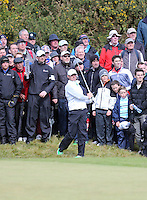Friday 29th May 2015; Rory McIlroy watches his approach shot to the 15th green<br /> <br /> Dubai Duty Free Irish Open Golf Championship 2015, Round 2 County Down Golf Club, Co. Down. Picture credit: John Dickson / SPORTSFILE